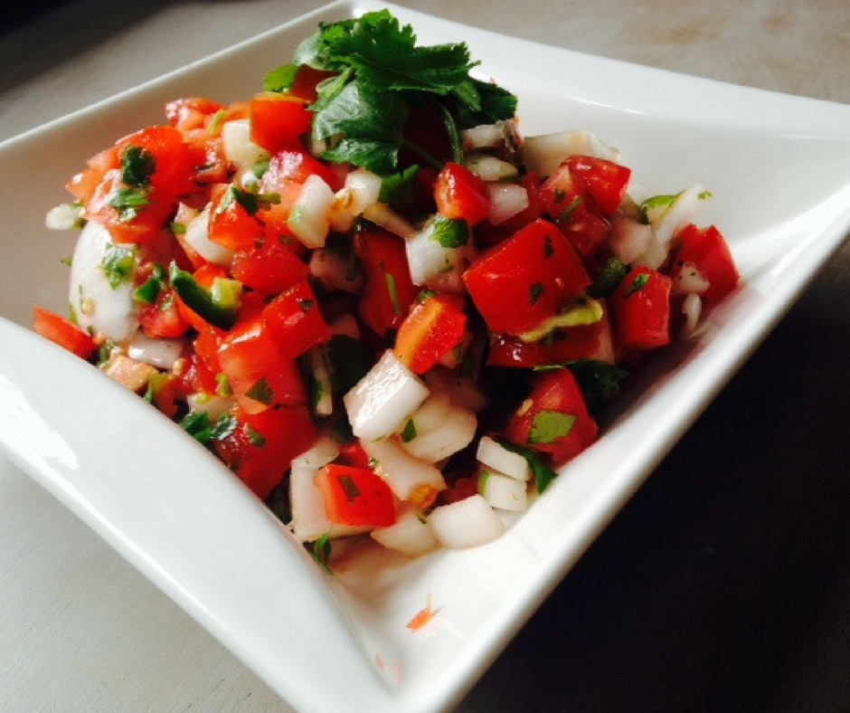 Homemade spicy pico de gallo