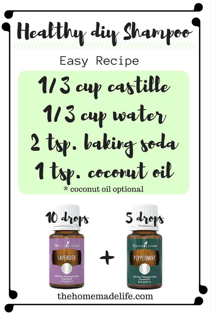 DIY shampoo recipes with essential oils
