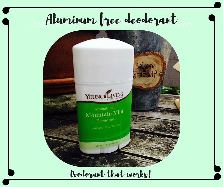 Non-toxic aluminum free deodorant
