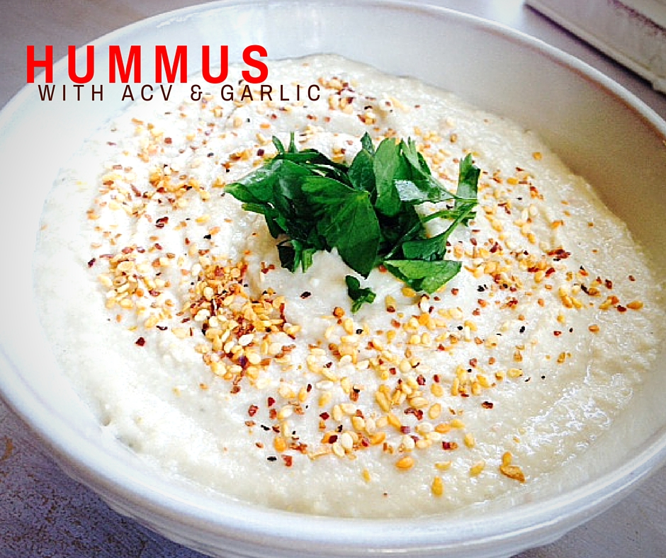 Hummus recipe with apple cider vinegar
