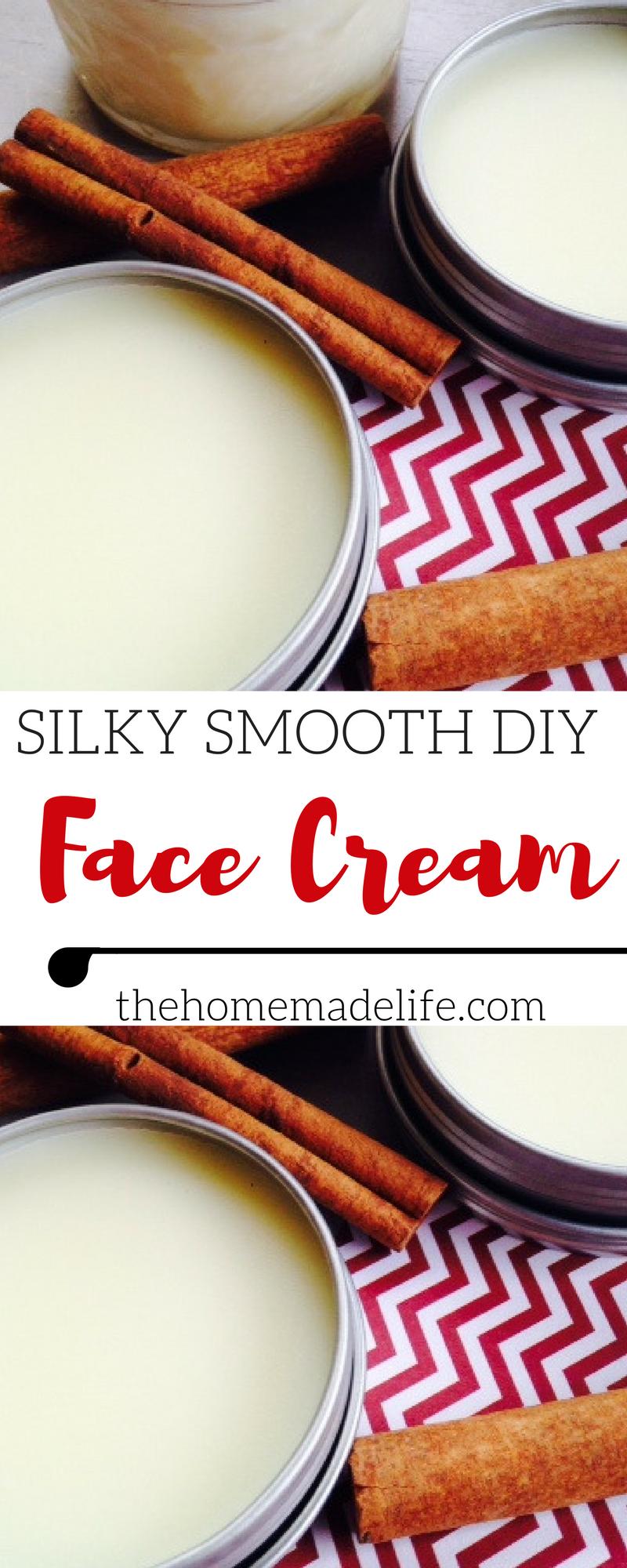 Silky Smooth DIY Face Cream