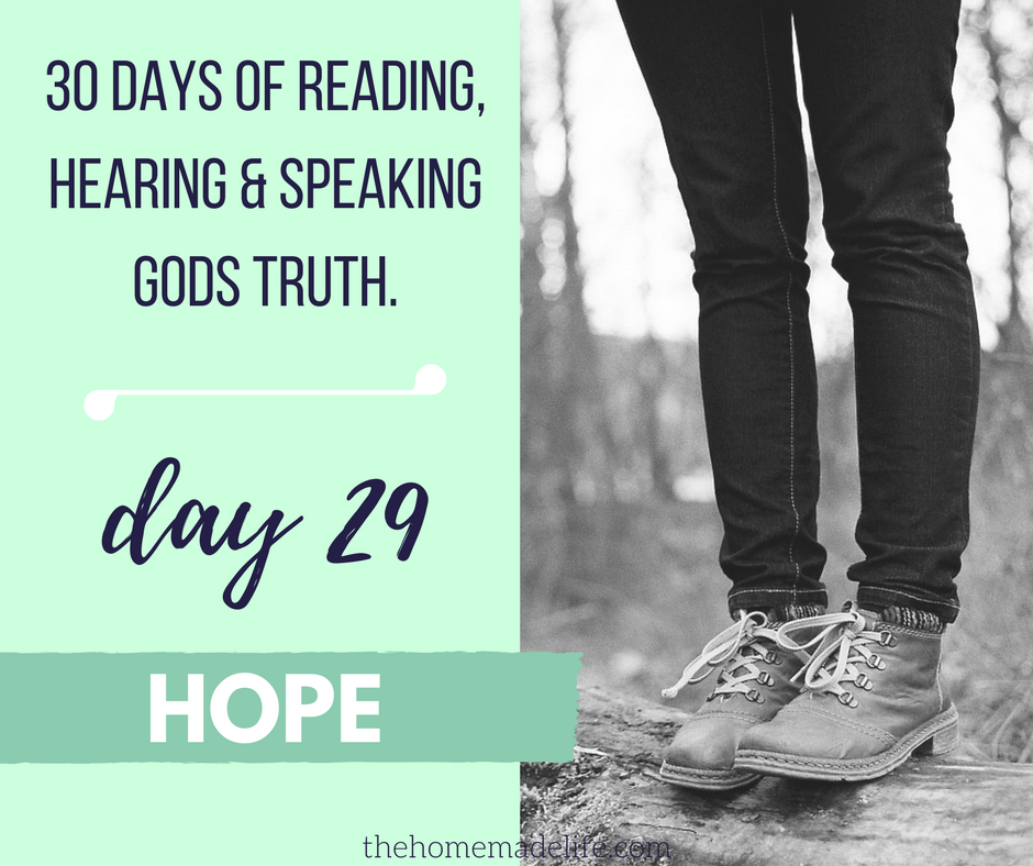 30 DAYS OF READING, HEARING & SPEAKING GODS TRUTH: HOPE, DAY 29