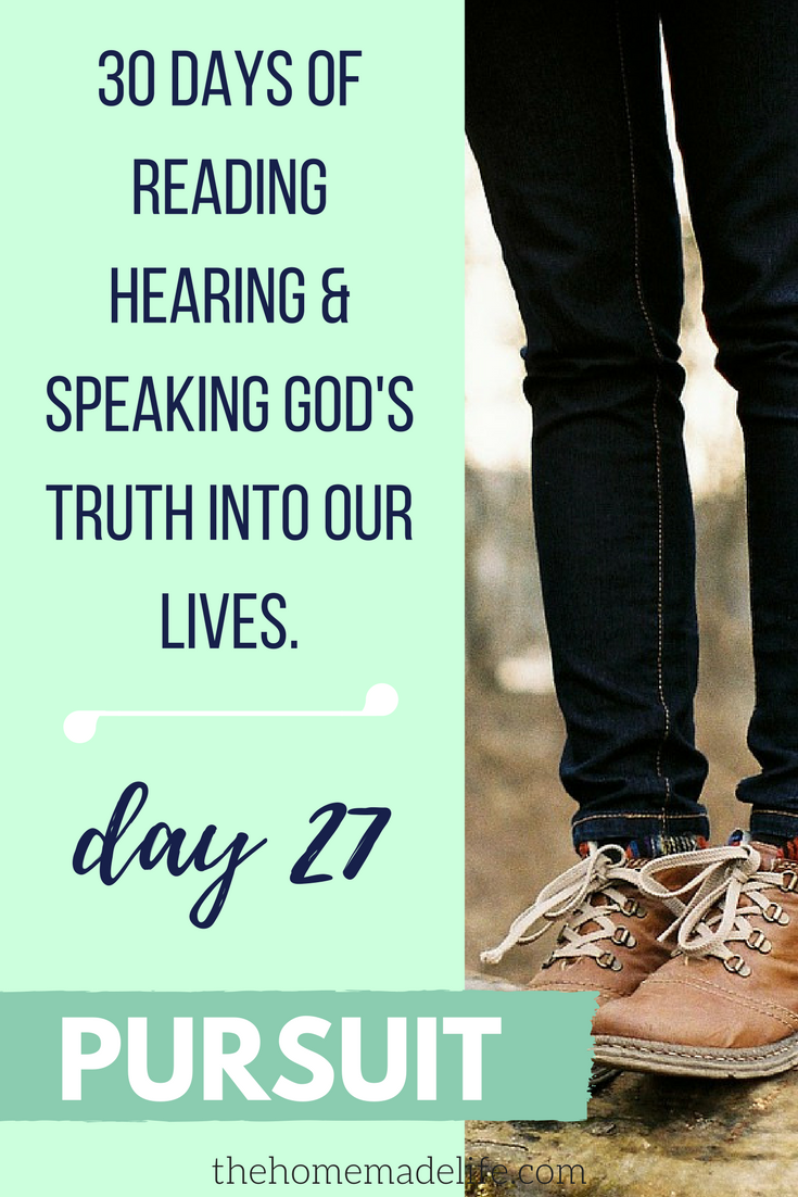 30 DAYS OF READING HEARING & SPEAKING GOD'S TRUTH INTO OUR LIVES; PURSUIT, DAY 27
